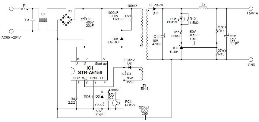 STR-A6159 ШИМ контроллер