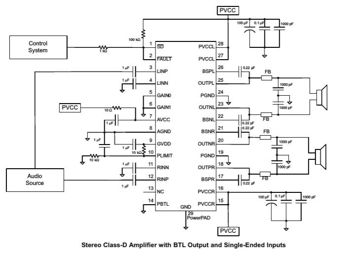 Схема включения RDA3118E28, RDA3118
